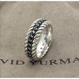 David Yurman black diamond size 7.5